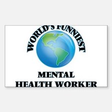 World's Funniest Mental Health Worker Decal