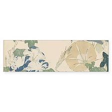 Morning Glories by Hokusai Bumper Sticker