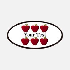 Personalizable Red Apples Patches
