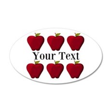 Personalizable Red Apples Wall Decal