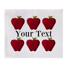 Personalizable Red Apples Throw Blanket