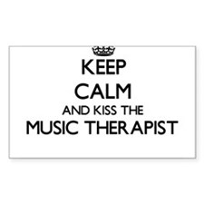 Keep calm and kiss the Music Therapist Decal