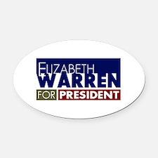 Elizabeth Warren for President V1 Oval Car Magnet