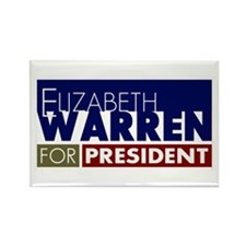 Elizabeth Warren for President V1 Rectangle Magnet