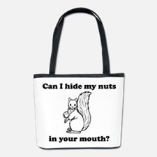 Can I hide my nuts in your mouth Bucket Bag