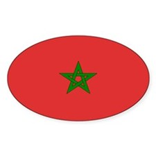 Moroccan Flag Oval Decal
