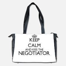 Keep calm and kiss the Negotiator Diaper Bag