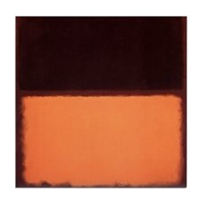 ROTHKO BROWN AND PEACH Tile Coaster