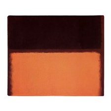 ROTHKO BROWN AND PEACH Throw Blanket