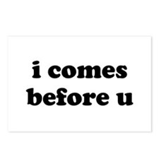 i comes before u Postcards (Package of 8)