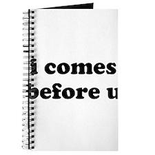 i comes before u Journal