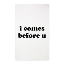 i comes before u 3'x5' Area Rug