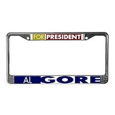 Al Gore for President License Plate Frame