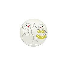 Summer Snowmen Mini Button (10 pack)