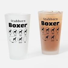 Stubborn Boxer v2 Drinking Glass