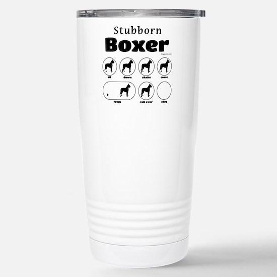 Stubborn Boxer v2 Stainless Steel Travel Mug