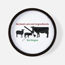 Funny Vegan Wall Clock