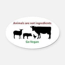 Animal liberation Oval Car Magnet