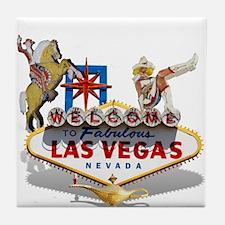 Las Vegas Welcome Sign Tile Coaster