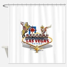 Las Vegas Welcome Sign Shower Curtain