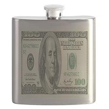 One Hundred Dollar Bill Flask
