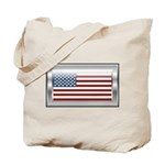 USA Chrome Flag July 4th Tote Bag