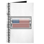USA Chrome Flag July 4th Journal