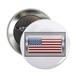 "USA Chrome Flag July 4th 2.25"" Button (100 pack)"
