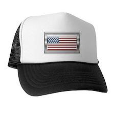 USA Chrome Flag July 4th Trucker Hat