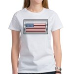 USA Chrome Flag July 4th Women's T-Shirt