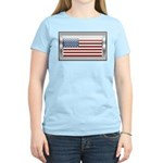 USA Chrome Flag July 4th Women's Light T-Shirt
