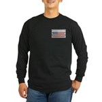 USA Chrome Flag July 4th Long Sleeve Dark T-Shirt