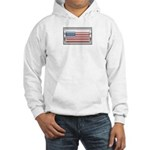 USA Chrome Flag July 4th Hooded Sweatshirt