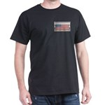 USA Chrome Flag July 4th Dark T-Shirt