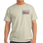 USA Chrome Flag July 4th Light T-Shirt