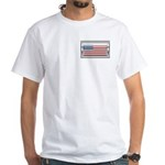 USA Chrome Flag July 4th White T-Shirt
