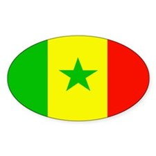 Senegalese Flag Oval Decal