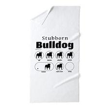 Stubborn Bulldog v2 Beach Towel