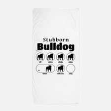 Stubborn Bulldog v2 Beach Towel