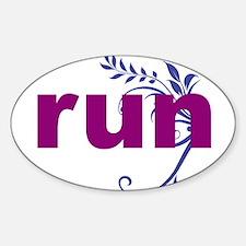Purple run sticker Decal
