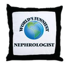 World's Funniest Nephrologist Throw Pillow