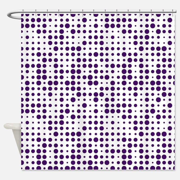 Dot Explosion Shower Curtain. Purple Polka Dot Bathroom Accessories  amp  Decor   CafePress