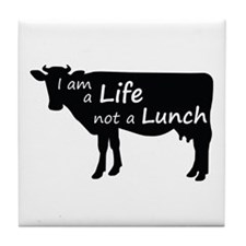 Funny Animal rights Tile Coaster