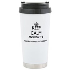Keep calm and kiss the Travel Coffee Mug