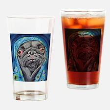Black Pug in Hoodie Drinking Glass