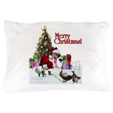 Christmas goose and ducks Pillow Case