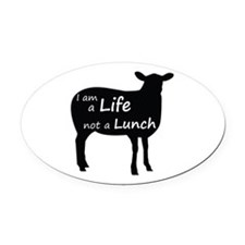 Cute No free lunches Oval Car Magnet