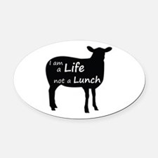 Cute Cruelty free Oval Car Magnet