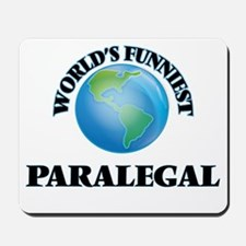 World's Funniest Paralegal Mousepad