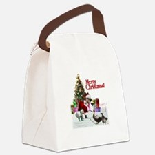 Christmas goose and ducks Canvas Lunch Bag
